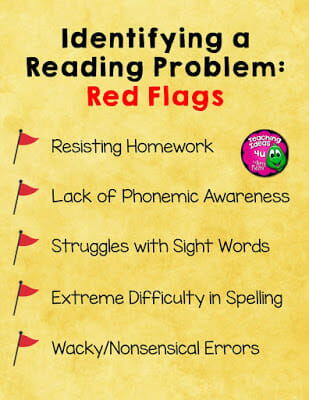 5 Signs of a Struggling Reader - Post discusses five often missed red flags that could be a sign that a student is struggling with reading. Teachers and parents of struggling readers will find this post helpful.