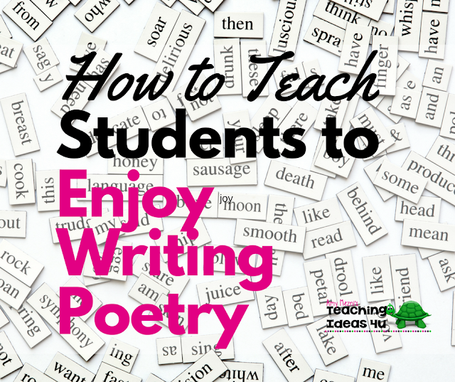 Learn how to teach your students to enjoy writing poetry! This post discusses seven easy steps every teacher can implement with students in both traditional classrooms or homeschool settings.