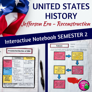 Teaching Ideas 4U - Amy Mezni - American History Interactive Notebook Jefferson Era - Reconstruction 8th Grade