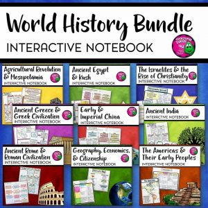 Teaching Ideas 4U - Amy Mezni - Ancient World History Interactive Notebook Social Studies BUNDLE