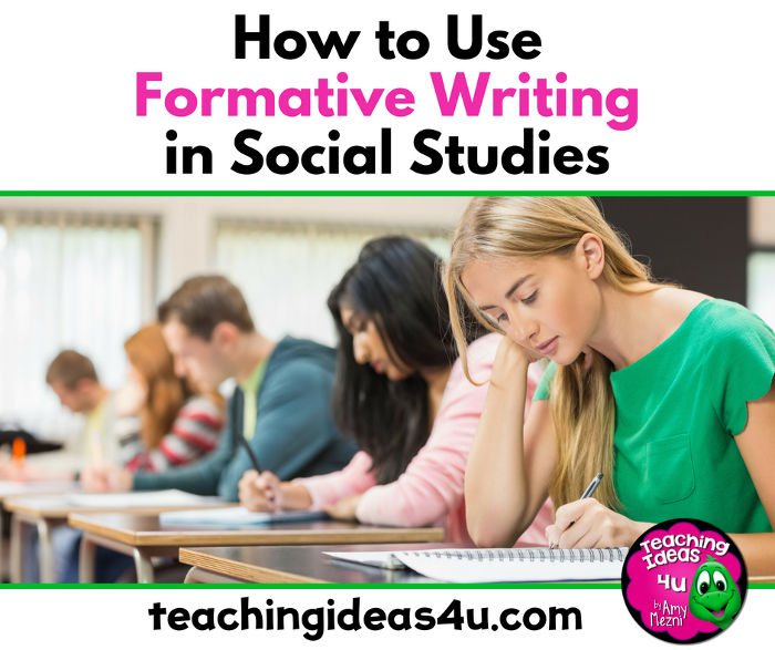 How to Use Formative Writing