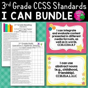 Teaching Ideas 4U - Amy Mezni - 3rd Grade I Can Posters & Checklists CCSS Math & ELA Bundle
