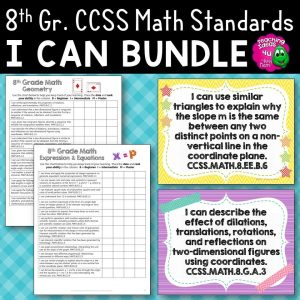 Teaching Ideas 4U - Amy Mezni - 8th Grade I Can Posters & Checklists CCSS MATH Standards Bundle