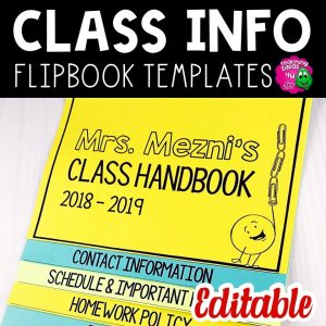 Teaching Ideas 4U - Amy Mezni - Back to School Class Information for Parents Layered Flap Book Editable