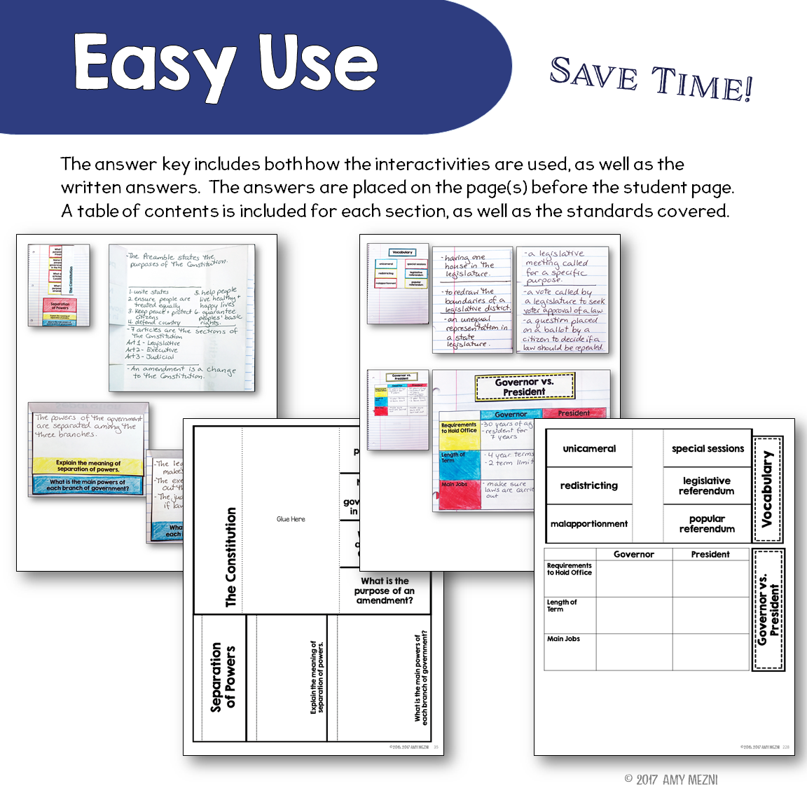 Civics, Government & American History Interactive Notebook ...