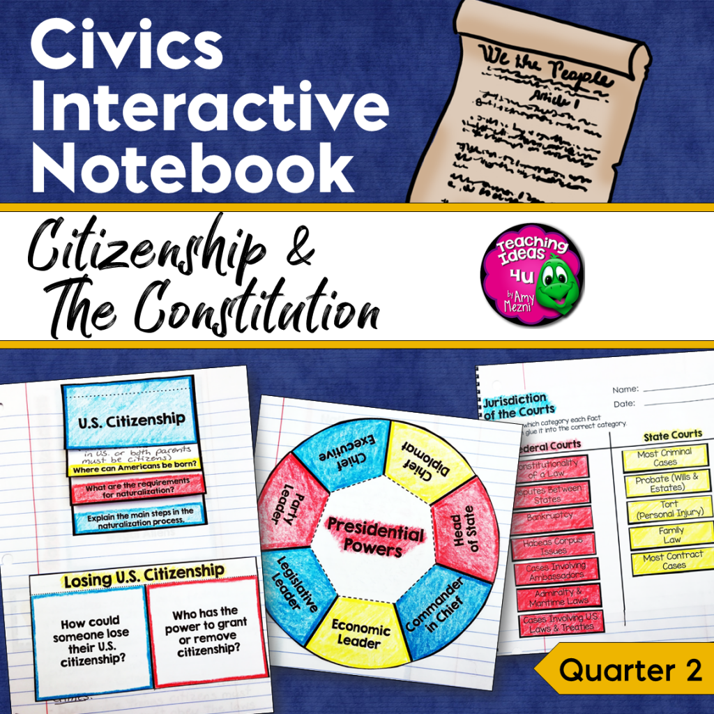 Civics & Government Interactive Notebook Citizenship & the ...