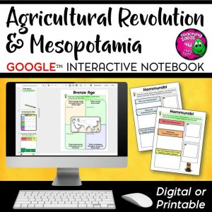 Teaching Ideas 4U - Amy Mezni - Early Peoples & Mesopotamia DIGITAL Interactive Notebook Unit World History