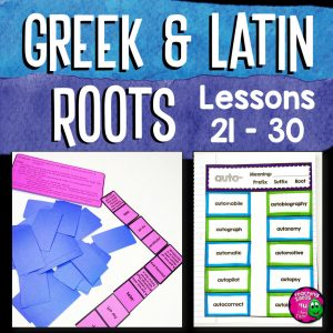 Teaching Ideas 4U - Amy Mezni - Greek & Latin Roots 10 Week Study Lesson Plans, Games+ UNIT 3 Grades 4 5 6