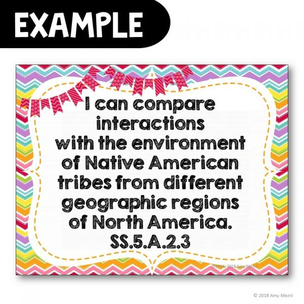 Teaching Ideas 4U - Amy Mezni - I Can Posters 5th Grade Social Studies NGSSS Florida Standards