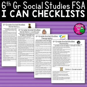 Teaching Ideas 4U - Amy Mezni - I Can Student Checklists 6th Grade World History Florida Standards