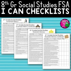 Teaching Ideas 4U - Amy Mezni - I Can Student Checklists 8th Grade American History Florida Standards