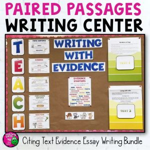 Teaching Ideas 4U - Amy Mezni - Paired Passages Writing Center Citing Text Evidence Bundle Grades 4, 5, & 6 FSA