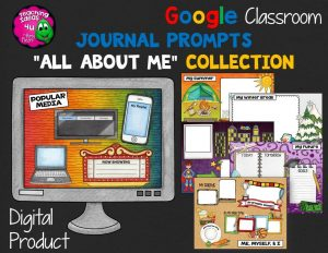 Teaching Ideas 4U - Amy Mezni - Journal Writing Prompts All About Me GOOGLE Drive Version