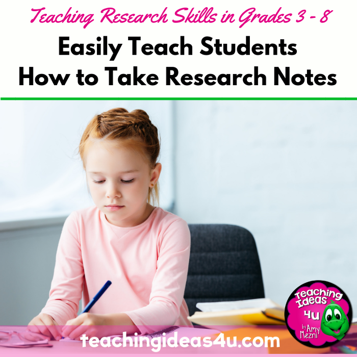Easily Teach Students How to Take Research Notes