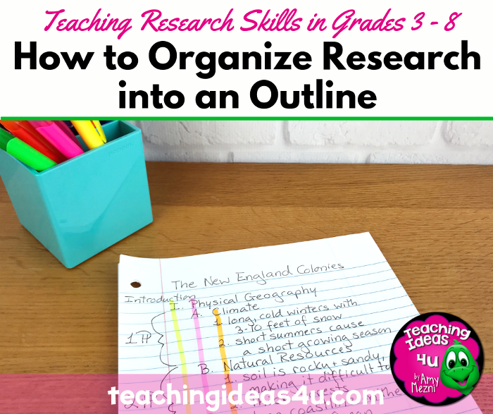 How to Organize a Research Paper Outline