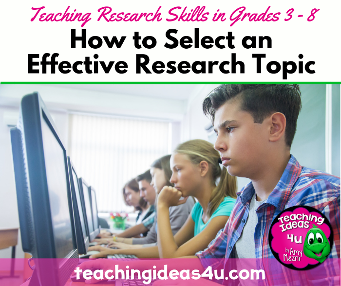 How to Select Effective Research Topics