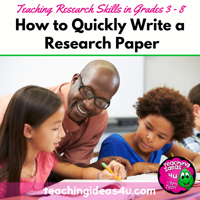How to Quickly Write a Research Paper