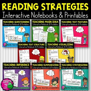 Teaching Ideas 4U - Amy Mezni - Reading Strategies Big Bundle: Notes, Practice, & Assessment + INB
