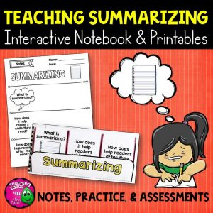 Teaching Ideas 4U - Amy Mezni - Summarizing Reading Strategy Unit: Notes, Practice, & Assessment