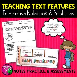 Teaching Ideas 4U - Amy Mezni - Text Features Reading Strategy Unit: Notes, Practice, & Assessment