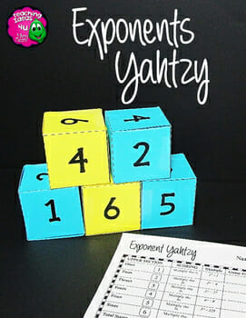 Teaching-Ideas-4U-Amy-Mezni-Exponents-Yahtzy-Dice-Game-Grades-5-6
