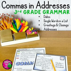 Teaching-Ideas-4U-Amy-Mezni-Commas-in-Addresses-and-Friendly-Letter-Unit-Video-Activities-More-3rd-Grade