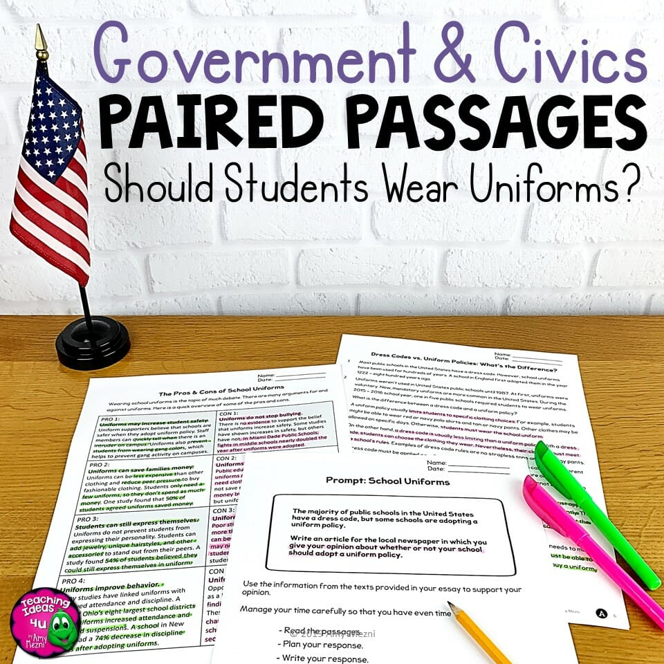 Teaching Idea 4U Government & Civics Should Students Wear Uniforms