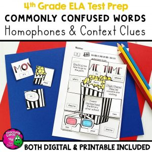 TeachingIdeas4U Commonly Confused Words Homophones & Content Clues