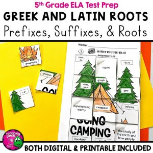 TeachingIdeas4U Greek & Latin Roots, Prefixes & Suffixes Review Activity