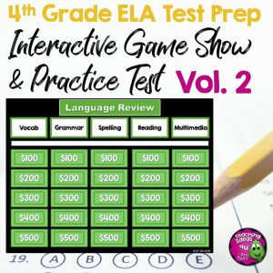 4th Gr ELA Game Show VOLUME 2 Test Prep PG1
