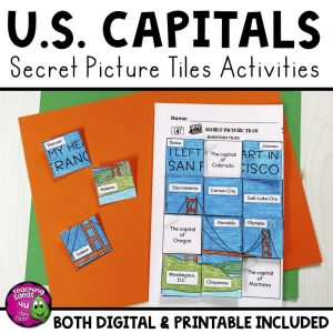 TeachingIdeas4U US Capitals Secret Picture Tiles PG1