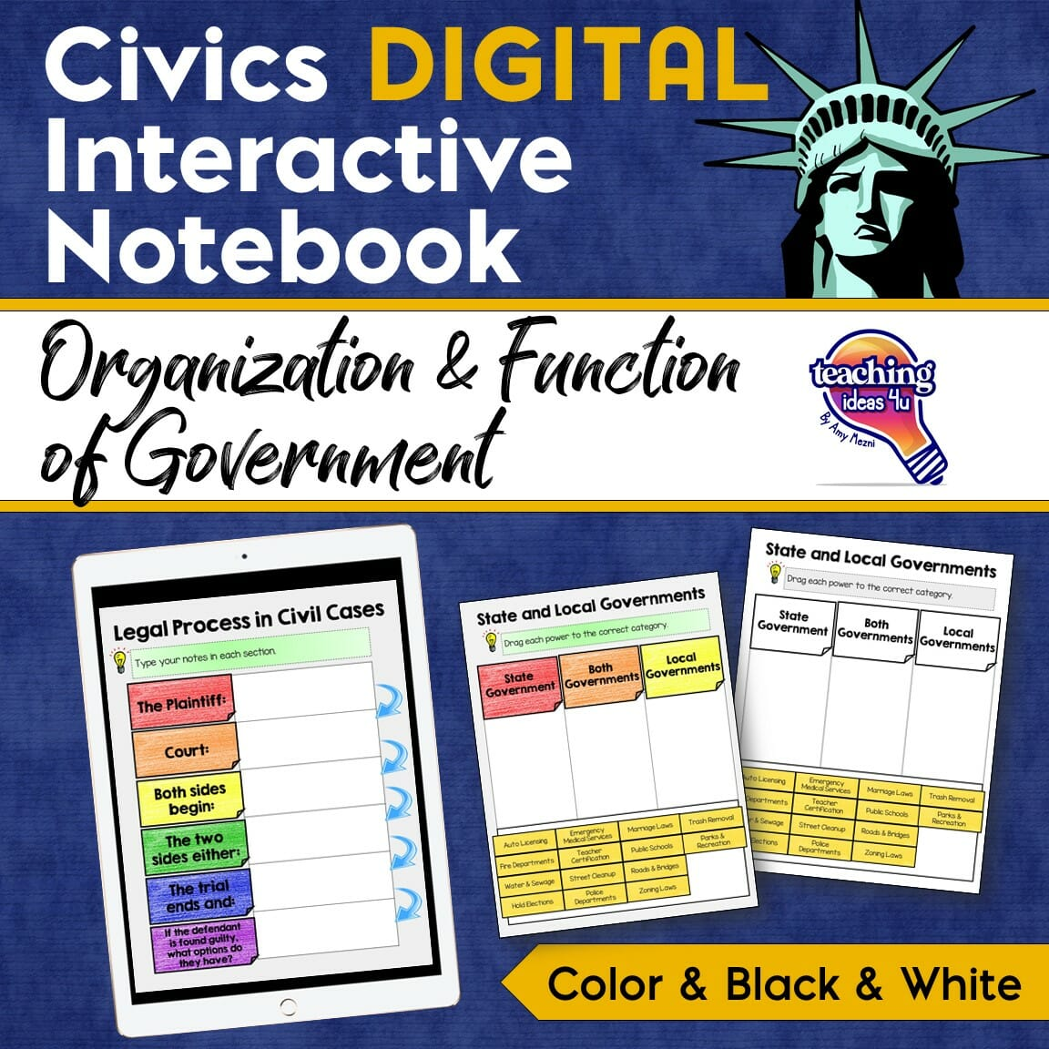 Civics Government DIGITAL Interactive Notebook ...