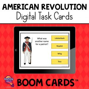TeachingIdeas4U American Revolution Digital Task Cards