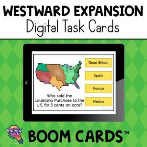 TeachingIdeas4U Westward Expansion Digital Task Cards