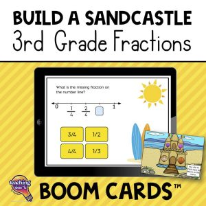3rd Grade Sandcastle Fractions BOOM Cards