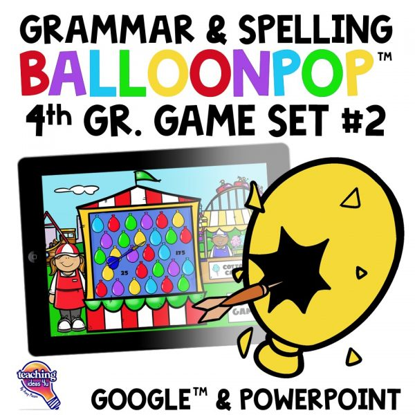4th Grade Grammar & Spelling Balloon Pop 2