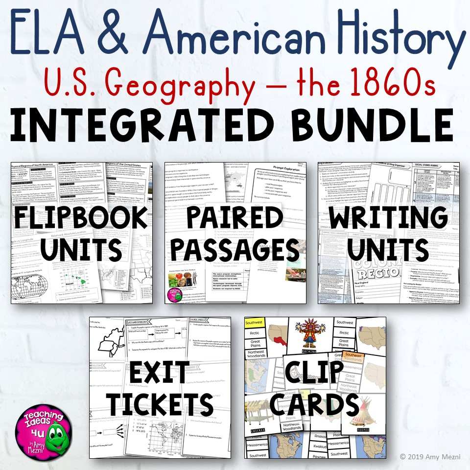 ELA & American History Year-Long Integrated 7 Unit BUNDLE