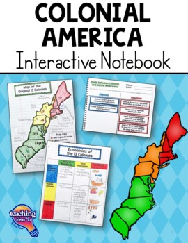 Teaching Ideas 4U - Amy Mezni - Colonial America U.S. History Interactive Notebook - 1