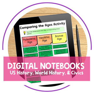 Teaching Resources - Digital Notebooks by Amy Mezni on Teaching Ideas 4U