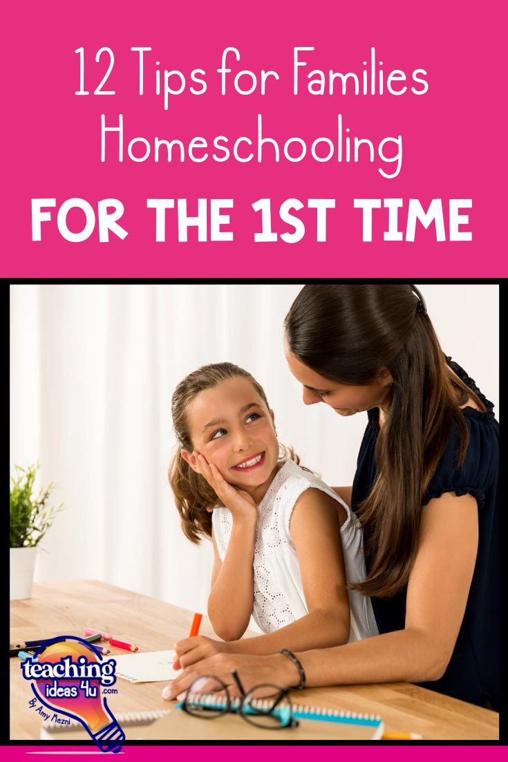 12 Tips For Families Homeschooling For The First Time Pin