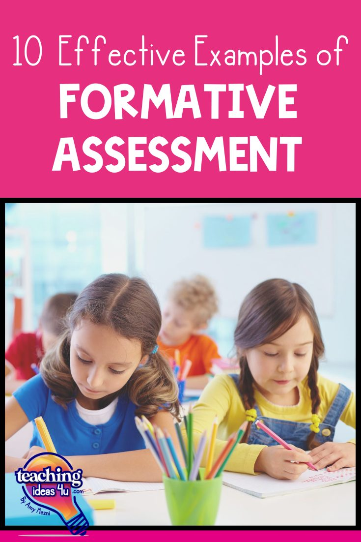 TeachingIdeas4U 10 Quick & Effective Examples of Formative Assessment Pin