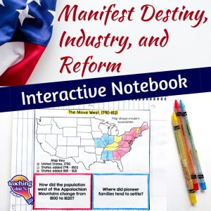 TeachingIdeas4u Mainfest Destiny, Industrial Revolution INB 1
