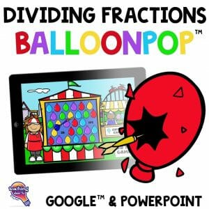 TeachingIdeas4U - Dividing Fractions BalloonPop