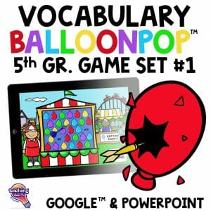 5th Grade Vocabulary BalloonPop™ Digital Review Games Set 2 2
