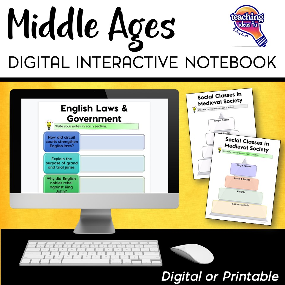 The Middle Ages & Medieval Times DIGITAL Interactive ...
