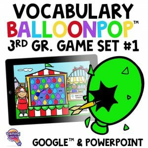 TI4U 3rd Grade Vocabulary BalloonPop™ Digital Review Games Set 11