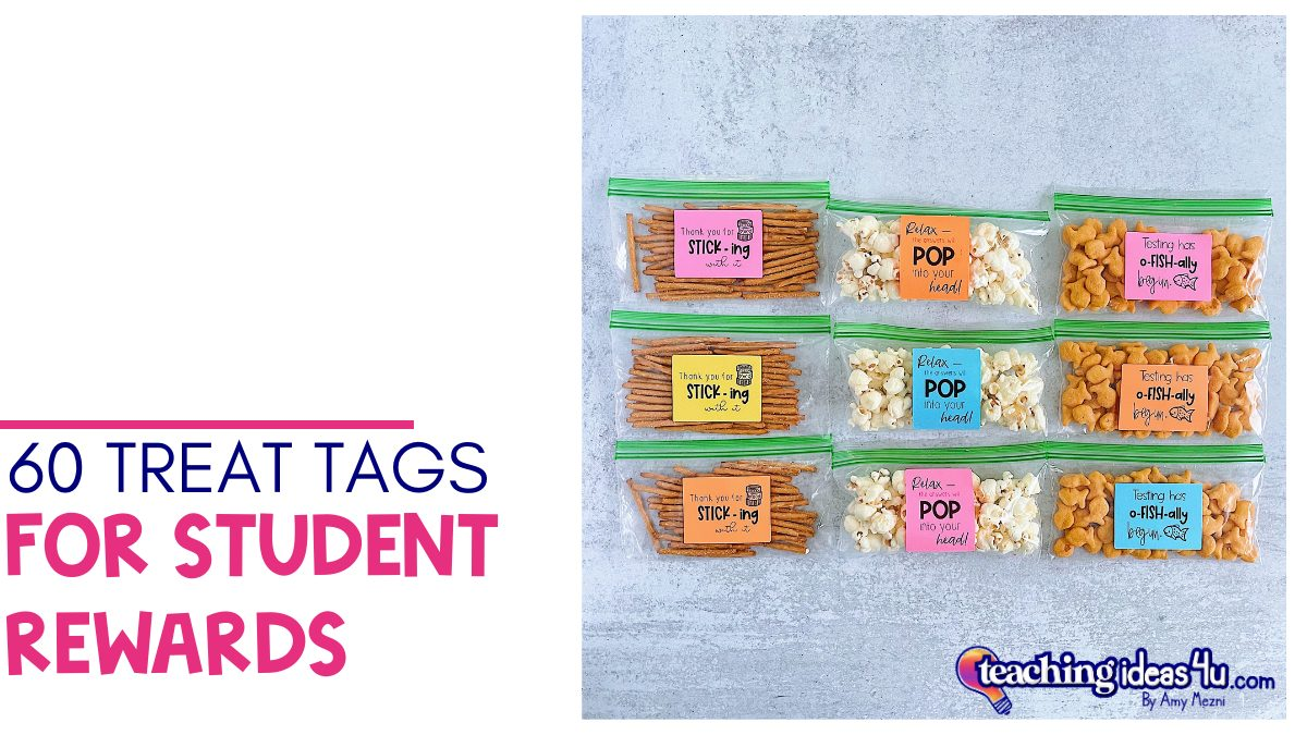 60 Treat Tags For Student Rewards